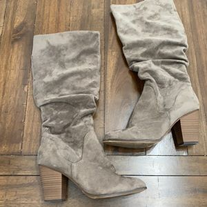 Gray Tall Boots Merona Size 9